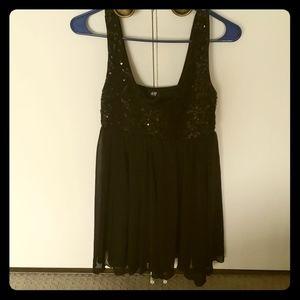 Sequined Black Dress